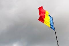 罗马尼亚旗子 库存照片
