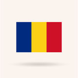 罗马尼亚旗子 库存图片