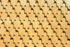 罗马尼亚木瓦传统墙壁 库存图片