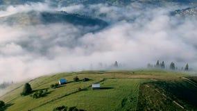 罗马尼亚村庄的鸟瞰图 股票录像
