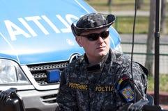罗马尼亚特种部队官员 免版税库存图片