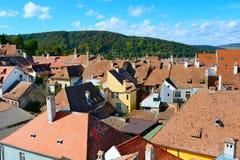 罗马尼亚瓦屋顶 图库摄影