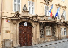 罗马尼亚的使馆在布拉格 免版税库存照片