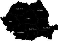 罗马尼亚的向量映射 库存例证