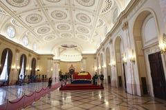 罗马尼亚的女王安妮王宫的在布加勒斯特 免版税库存照片