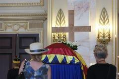 罗马尼亚的女王安妮王宫的在布加勒斯特 免版税库存图片