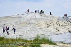 罗马尼亚的泥火山 免版税库存照片