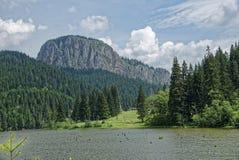 罗马尼亚的秀丽红色湖的 图库摄影