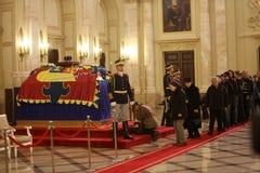 罗马尼亚的迈克尔I国王葬礼  免版税库存照片