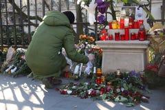 罗马尼亚的迈克尔I国王葬礼  免版税库存图片