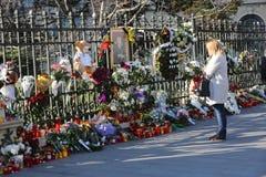 罗马尼亚的迈克尔I国王葬礼  图库摄影