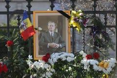 罗马尼亚的迈克尔I国王葬礼  库存照片