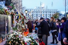 罗马尼亚的Mihai国王的死亡comemoration 免版税图库摄影