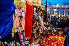 罗马尼亚的Mihai国王的死亡comemoration 图库摄影