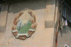 罗马尼亚社会主义共和国象征  库存照片