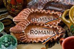 罗马尼亚纪念品 库存照片