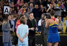 罗马尼亚网球员伊琳娜Begu签署的题名 图库摄影