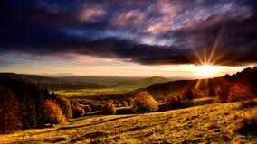 罗马尼亚美丽的风景圣徒Ana火山的湖 免版税图库摄影