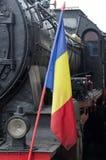 罗马尼亚老蒸汽机车 免版税库存照片