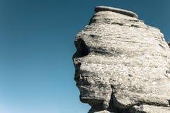 罗马尼亚自然纪念碑叫Sfinx 图库摄影
