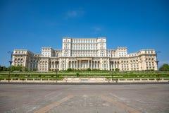 罗马尼亚议会大厦在布加勒斯特是第二大大厦在世界上 免版税库存图片