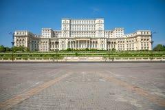 罗马尼亚议会大厦在布加勒斯特是第二大大厦在世界上 库存照片