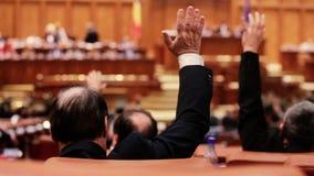 罗马尼亚议会投票的成员 股票视频