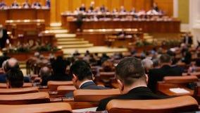 罗马尼亚议会投票的成员 影视素材