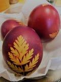 罗马尼亚语的复活节彩蛋 库存照片