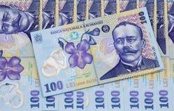 罗马尼亚货币    免版税图库摄影