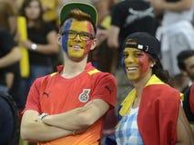 罗马尼亚足球迷 免版税图库摄影