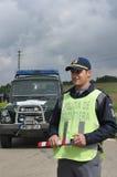 罗马尼亚边境警察任命军官 免版税库存图片