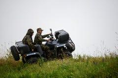 罗马尼亚边界ATV 库存图片