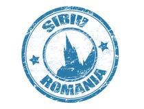 罗马尼亚锡比乌印花税 免版税库存图片