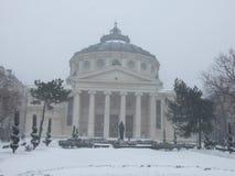 罗马尼亚雅典庙宇 库存图片