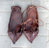 罗马尼亚鞋子 库存照片