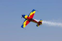 罗马尼亚飞行表演 库存照片