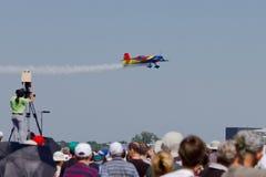 罗马尼亚飞行表演 免版税图库摄影