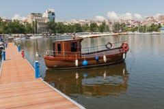 罗马尼亚,康斯坦察, Mamaia 免版税图库摄影