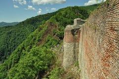 罗马尼亚,德雷库拉废墟城堡  库存图片