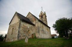 罗马尼亚-圣塔玛丽亚Orlea教会 库存照片