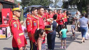 罗马尼亚仪仗队 库存图片