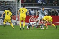 罗马尼亚-阿根廷橄榄球/足球赛 免版税库存照片