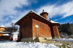 罗马尼亚- Agapia Veche偏僻寺院 库存照片