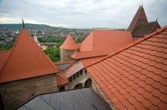 罗马尼亚- Corvin城堡 库存图片