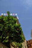 罗马屋顶大阳台 免版税图库摄影