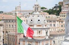 罗马屋顶的看法 库存图片