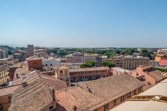 罗马屋顶视图 库存照片