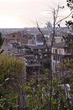 罗马屋顶风景 免版税库存图片
