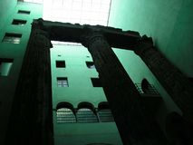 罗马巴塞罗那的列 免版税库存照片